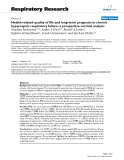 """Báo cáo y học: """" Health-related quality of life and long-term prognosis in chronic hypercapnic respiratory failure: a prospective survival analysis"""""""