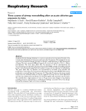 "Báo cáo y học: ""Time course of airway remodelling after an acute chlorine gas exposure in mice"""