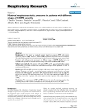 """Báo cáo y học: """"  Maximal respiratory static pressures in patients with different stages of COPD severity"""""""