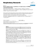 """Báo cáo y học: """" Airway inflammation contributes to health status in COPD: a cross-sectional study"""""""