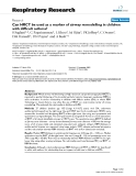 "Báo cáo y học: ""Can HRCT be used as a marker of airway remodelling in children with difficult asthma?"""