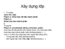 Xây dựng lớp