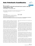 """Báo cáo khoa học: """"The prevalence of the third and fourth heart sounds in clinically healthy Holstein cattle"""""""