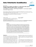 """Báo cáo khoa học: """"Growth rate, health and welfare in a dairy herd with natural suckling until 6–8 weeks of age: a case repor"""""""