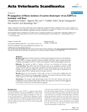 """Báo cáo khoa học: """" Propagation of Asian isolates of canine distemper virus (CDV) in hamster cell lines"""""""
