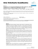"""Báo cáo khoa học: """" Validation of computerized diagnostic information in a clinical database from a national equine clinic network"""""""