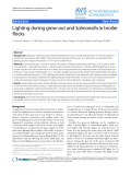 """Báo cáo khoa học: """"Lighting during grow-out and Salmonella in broiler flocks"""""""