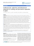 "Báo cáo khoa học: ""Cardiovascular, endocrine and behavioural responses to suckling and permanent separation in goats"""