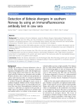 """Báo cáo khoa học: """" Detection of Babesia divergens in southern Norway by using an immunofluorescence antibody test in cow sera"""""""