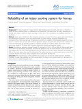 "Báo cáo khoa học: ""Reliability of an injury scoring system for horses"""