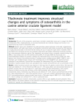 "Báo cáo y học: ""Tiludronate treatment improves structural changes and symptoms of osteoarthritis in the canine anterior cruciate ligament model"""