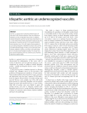 "Báo cáo y học: "" Idiopathic aortitis: an underrecognized vasculitis"""