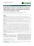 "Báo cáo y học: "" Cardiovascular events in early RA are a result of inflammatory burden and traditional risk factors: a five year prospective study"""