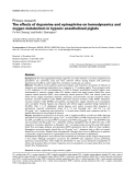 """Báo cáo y học: """"The effects of dopamine and epinephrine on hemodynamics and oxygen metabolism in hypoxic anesthetized piglets"""""""