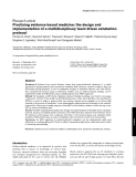 "Báo cáo y học: ""Practising evidence-based medicine: the design and implementation of a multidisciplinary team-driven extubation protocol"""