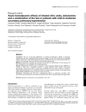 """Báo cáo y học: """"Acute hemodynamic effects of inhaled nitric oxide, dobutamine and a combination of the two in patients with mild to moderate secondary pulmonary hypertension"""""""