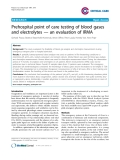 "Báo cáo y học: "" Prehospital point of care testing of blood gases and electrolytes — an evaluation of IRMA"""