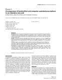 "Báo cáo y học: ""A comparison of handwritten and computer-assisted prescriptions in an intensive care unit"""