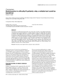 "Báo cáo y học: ""Endotoxemia in critically ill patients: why a reliable test could be beneficial"""