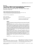 "Báo cáo y học: ""he effects of IgM-enriched immunoglobulin preparations in patients with severe sepsis [ISRCTN28863830]."""