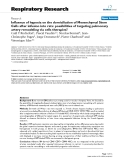 """Báo cáo y học: """"  Influence of hypoxia on the domiciliation of Mesenchymal Stem Cells after infusion into rats: possibilities of targeting pulmonary artery remodeling via cells therapies """""""