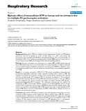 """Báo cáo y học: """" Biphasic effect of extracellular ATP on human and rat airways is due to multiple P2 purinoceptor activation"""""""