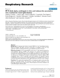 """Báo cáo y học: """" Open Access  SP-A binds alpha1-antitrypsin in vitro and reduces the association rate constant for neutrophil elastase"""""""