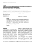 "Báo cáo y học: "" Implications of post-pneumonectomy compensatory lung growth in pulmonary physiology and disease"""