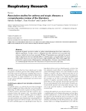 "Báo cáo y học: "" Association studies for asthma and atopic diseases: a comprehensive review of the literature"""