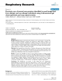 "Báo cáo y học: ""Psoriasin, one of several new proteins identified in nasal lavage fluid from allergic and non-allergic individuals using 2-dimensional gel electrophoresis and mass spectrometry"""