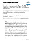 "Báo cáo y học: ""Extent of exposure to environmental tobacco smoke (ETS) and its dose-response relation to respiratory health among adults"""
