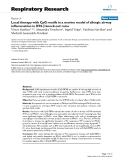"""Báo cáo y học: """" Local therapy with CpG motifs in a murine model of allergic airway inflammation in IFN-β knock-out mice"""""""