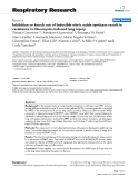 """Báo cáo y học: """" Inhibition or knock out of Inducible nitric oxide synthase result in resistance to bleomycin-induced lung injury"""""""