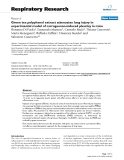 """Báo cáo y học: """"Green tea polyphenol extract attenuates lung injury in experimental model of carrageenan-induced pleurisy in mice"""""""