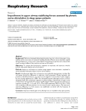 "Báo cáo y học: "" Impediment in upper airway stabilizing forces assessed by phrenic nerve stimulation in sleep apnea patients"""