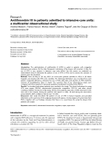 "Báo cáo y học: ""Antithrombin III in patients admitted to intensive care units: a multicenter observational study"""