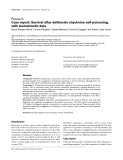 """Báo cáo y học: """"Case report: Survival after deliberate strychnine self-poisoning, with toxicokinetic data"""""""