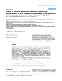 "Báo cáo y học: ""Effects of contrast material on computed tomographic measurements of lung volumes in patients with acute lung injury"""