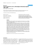 "Báo cáo y học: ""Cost of intensive care in a Norwegian University hospital 1997–1999"""