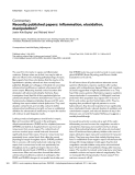 "Báo cáo y học: ""Recently published papers: inflammation, elucidation, manipulation"""