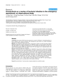 """Báo cáo khoa học: """" Procalcitonin as a marker of bacterial infection in the emergency department: an observational study"""""""