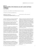 """Báo cáo khoa học: """" Research ethics in the intensive care unit: current and future challenges"""""""