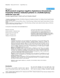 """Báo cáo khoa học: """"Multiresistant coagulase-negative staphylococci disseminate frequently between intubated patients in a multidisciplinary intensive care unit"""""""
