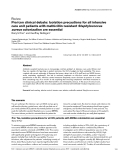 """Báo cáo khoa học: """" Pro/con clinical debate: Isolation precautions for all intensive care unit patients with methicillin-resistant Staphylococcus aureus colonization are essential"""""""