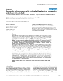 """Báo cáo khoa học: """" Accidental catheter removal in critically ill patients: a prospective and observational study"""""""