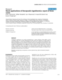 """Báo cáo y học: """"Novel applications of therapeutic hypothermia: report of three cases"""""""