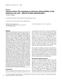 "Báo cáo y học: ""Clinical review: The meaning of acid–base abnormalities in the intensive care unit – effects of fluid administration"""