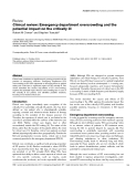"""Báo cáo y học: """"Clinical review: Emergency department overcrowding and the potential impact on the critically il"""""""