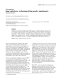 """Báo cáo y học: """"New indications for the use of therapeutic hypothermia"""""""