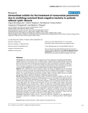 "Báo cáo y học: ""Aerosolized colistin for the treatment of nosocomial pneumonia due to multidrug-resistant Gram-negative bacteria in patients without cystic fibrosis"""